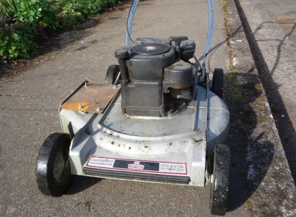 Mistakes Shooting someone over a lawn mower like this one.