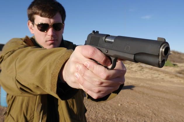 Springfield 1911A1 shooting