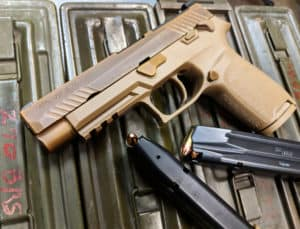 sig sauer m17 and magazines