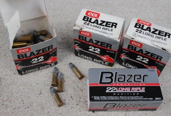 old corroded blazer 22 ammo
