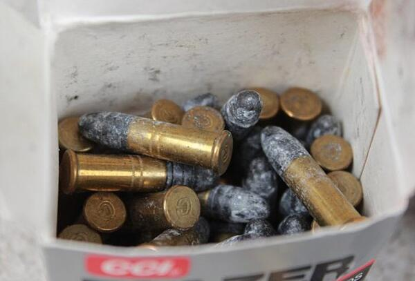old corroded ammo